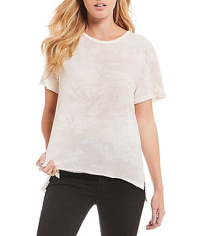 Free People Army Camo Short Sleeve Tee