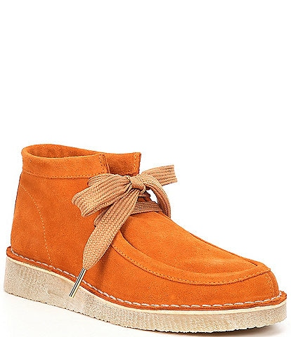 Free People Ashton Ankle Suede Lace-Up Booties