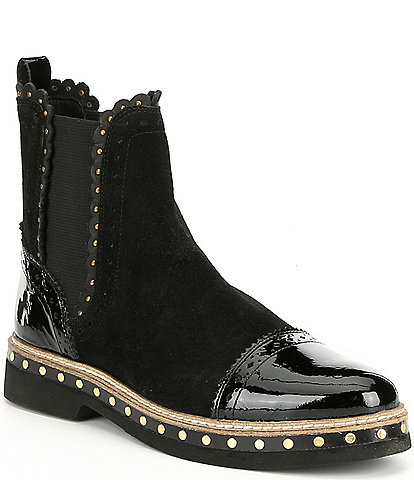 Free People Atlas Studded Suede Booties