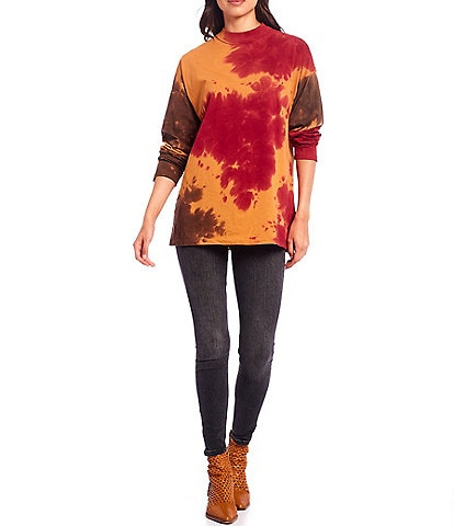 Free People Be Free Tie Dye Long Sleeve Tee