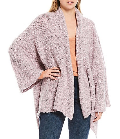 Free People BFF Oversized Shawl Collar Open Front Cardigan
