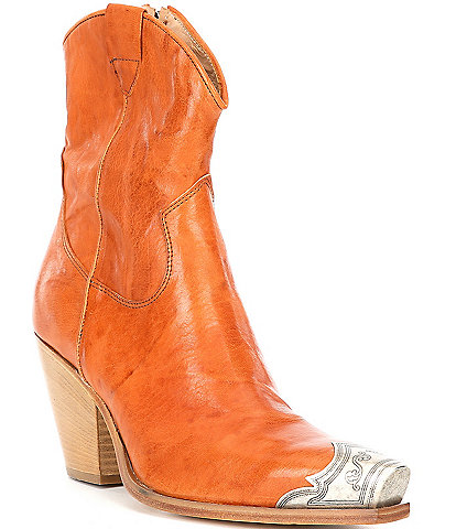 Free People Brayden Leather Western Booties