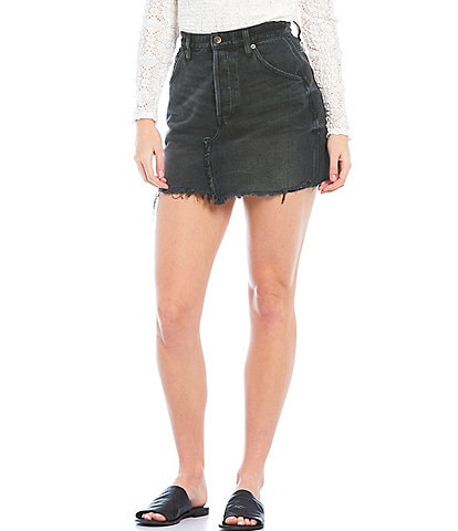 Free People Brea Cut Off High Rise Mini Skirt
