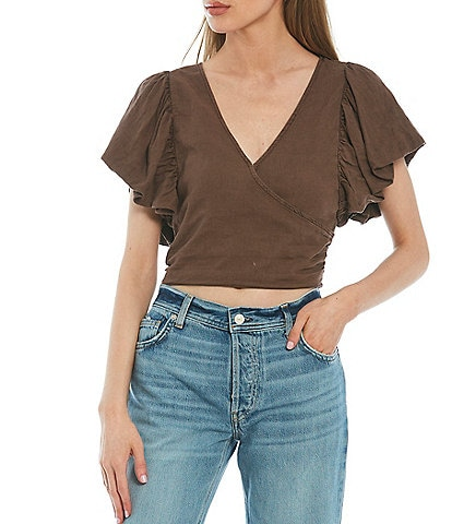 Free People Can't Get Enough Wrap Top