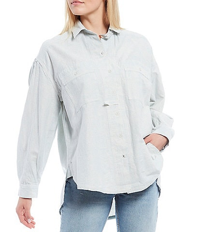 Free People Cardiff Button Down Top