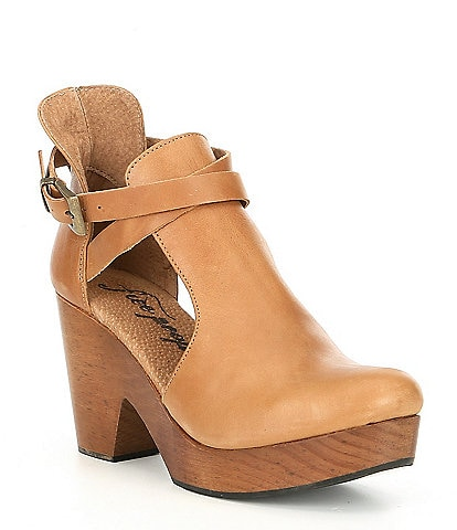 Free People Cedar Suede Buckle Clogs