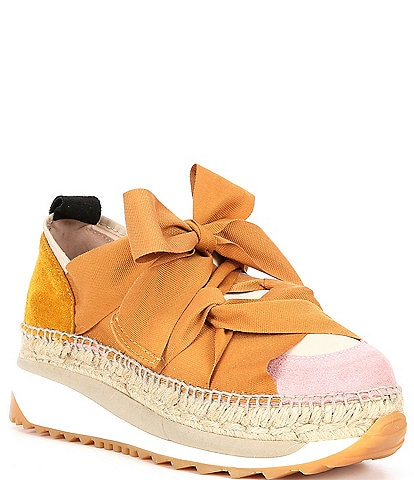 Free People Chapmin Suede Chunky Espadrille Sneakers
