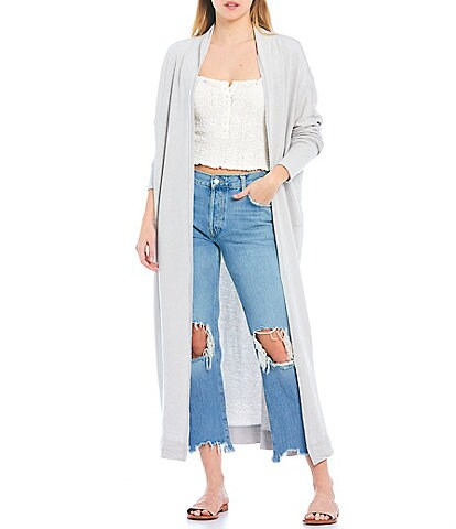 Free People Cozy Girl Oversized Open-Front Long Cardigan