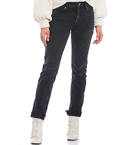 Free People Cuffed Slim Boyfriend Jeans