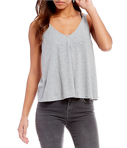 Free People Dani Knit V-Neck Tank Top