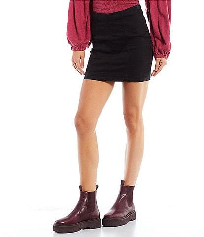 Free People We the Free Denim Modern Femme Mini Skirt