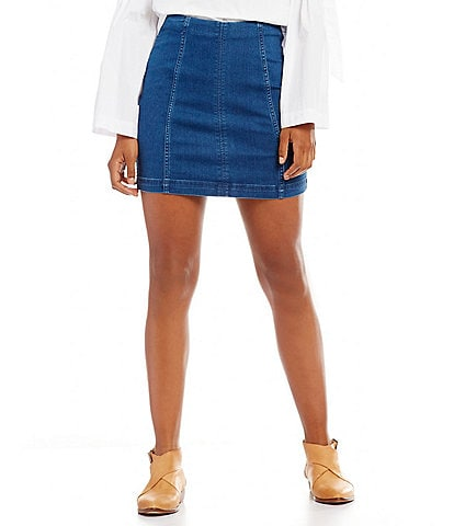 Free People We the Free Denim Modern Femme Mini Skirt