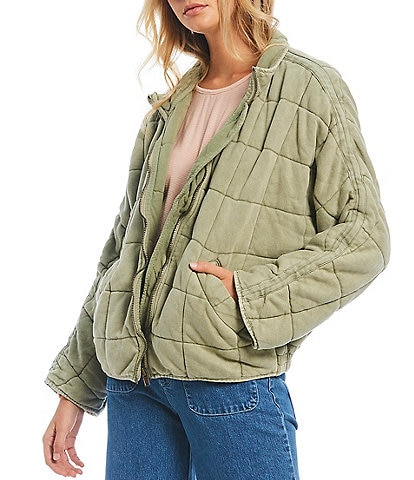 Free People Dolman Quilted Knit Cotton Jacket