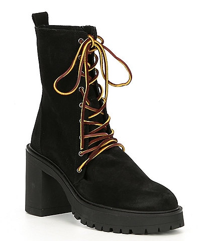 Free People Dylan Suede Lug Sole Hiker Booties