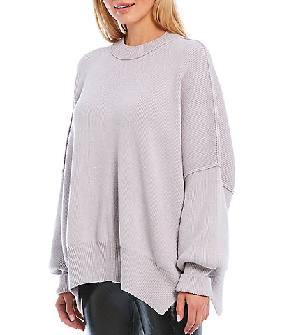 Free People Easy Street Cotton Blend Oversized Sweater