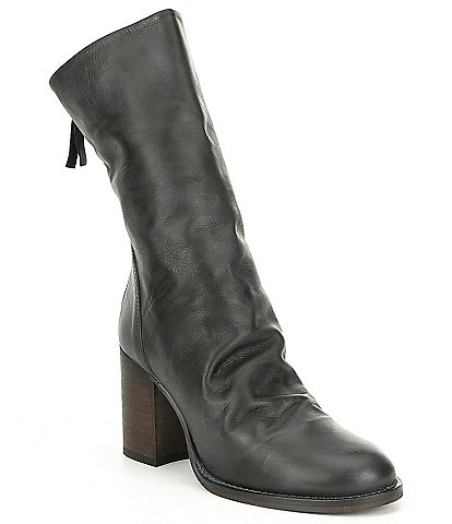 Free People Elle Slouchy Leather Block Heel Boots