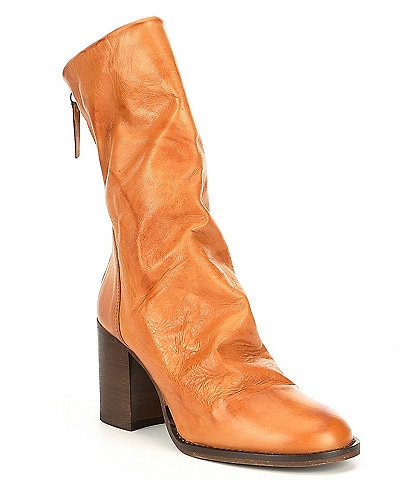 Free People Elle Leather Block Heel Boots