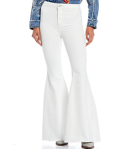 Free People Flare Float On High Rise Pants