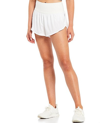 Free People FP Movement Game Time High Rise Elastic Waistband Boxer Shorts