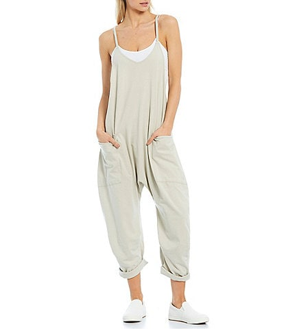 Free People FP Movement Sleeveless Scoop Neck Ankle Length Hot Shot Onesie