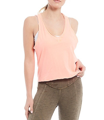 Free People FP Movement Kickin It Open Back Tie Tank