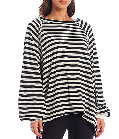 Free People FP Movement She's Everything Long Sleeve Stripe Top