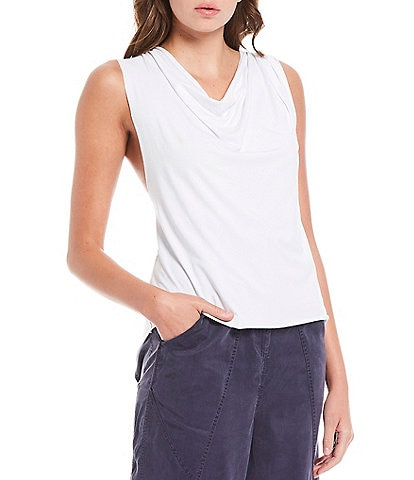 Free People FP Movement Turn Around Sleeveless Cowl Neck Loose Tee