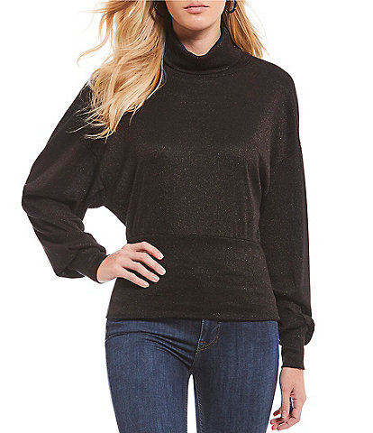 Free People Glam Bishop Sleeve Turtleneck Sweater