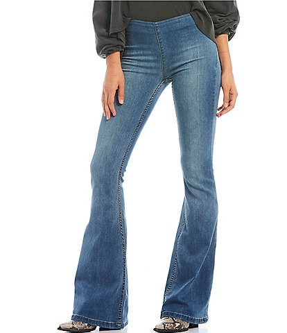 4448495995bfb Free People We the Free Gummy Flared Pull-On Jeans