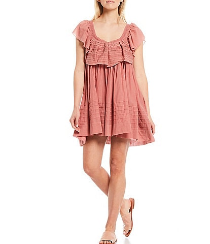 Free People Hailey Scoop Neck Mini Dress