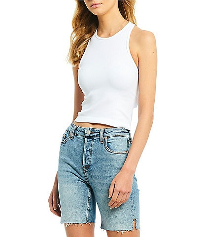 Free People Haley Racerback Cropped Knit Tank