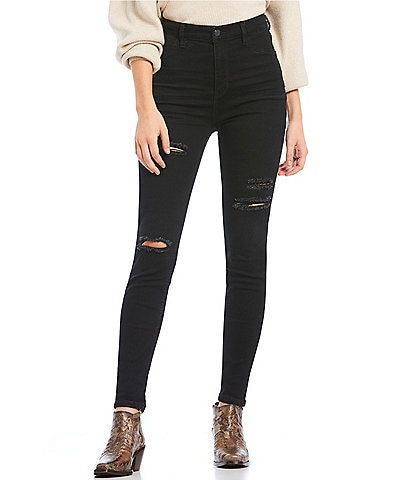 Free People Jean Destroyed Long and Lean High Rise Skinny Jeans