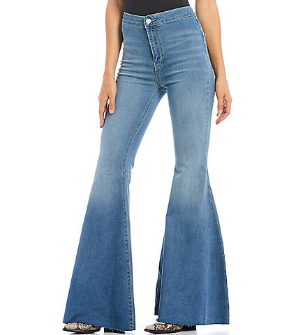 ba9d2f69 Free People Just Float On Flare Bell Bottom Jeans