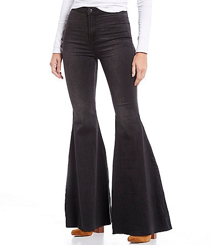 Free People Just Float On Flare Bell Bottom Jeans