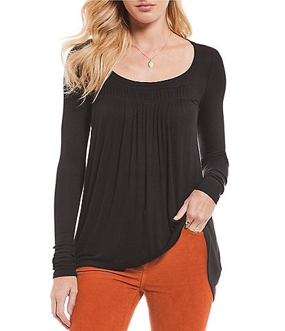 Free People Love Valley Long Sleeve Knit Top