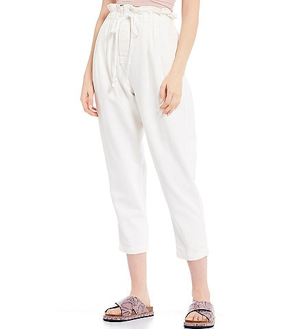 Free People Margate Paperbag Waist Pleated Pant