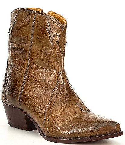 Free People New Frontier Leather Western Booties