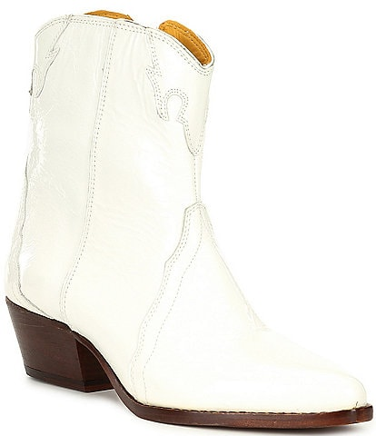 Free People New Frontier Patent Leather Western Booties