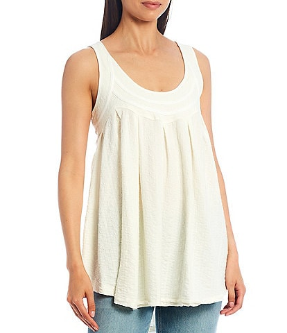 Free People New You Tie Back Sleeveless Scoop Neck Tank