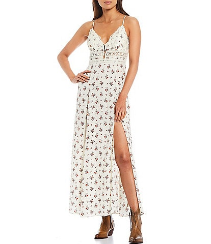 Free People Out & About Maxi Slip Dress