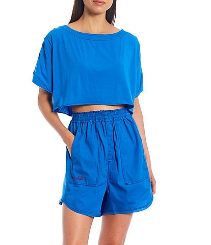 Free People Perfect Pima Boxer Top and Short Set