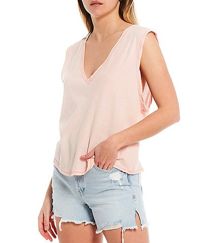 Free People Relaxed Fit Open Arm Dreamy Tank