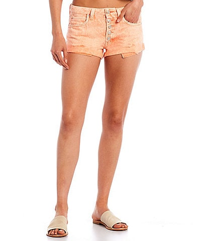 Free People Romeo Rolled Cut-Off Mid Rise Short