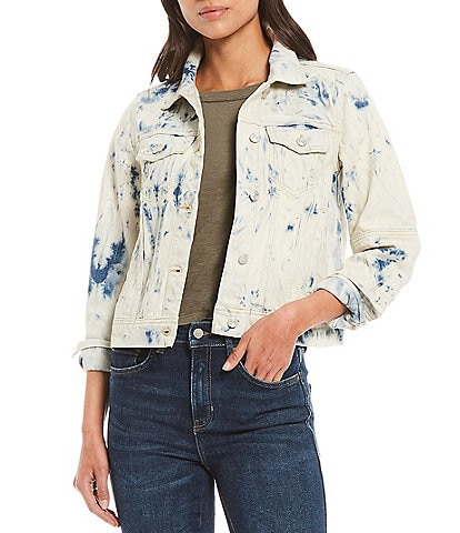 Free People Rumors Tie Dye Denim Jacket