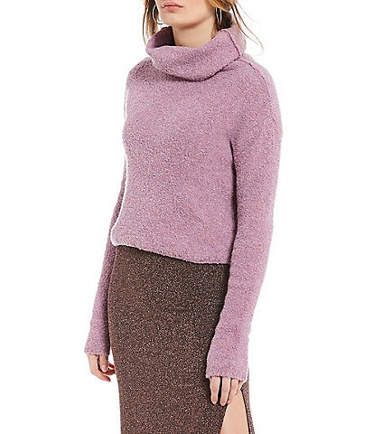 Free People Stormy Plush Cowl Neck Sweater