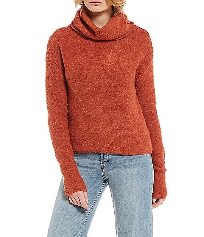 Orange Womens Cowlneck Sweaters Dillards