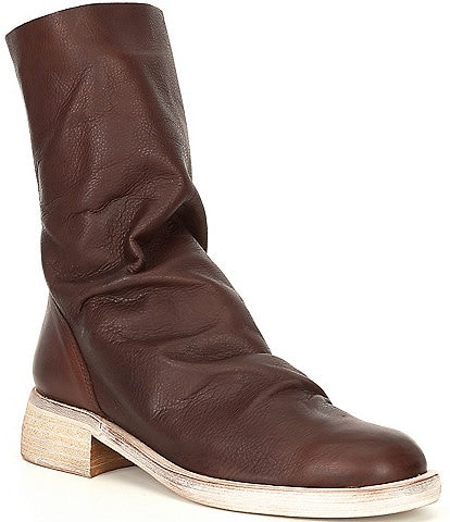 Free People Sutton Tight Slouch Leather Block Heel Boots