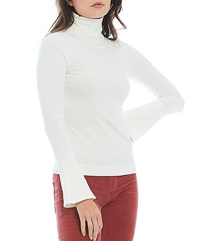 Free People Sydney Long Sleeve Turtleneck Layering Ribbed Knit Top