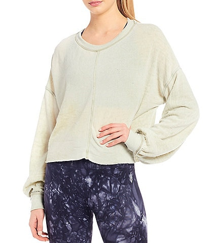 FP Movement Top Ab Solute Crop Raw Hem Sweatshirt