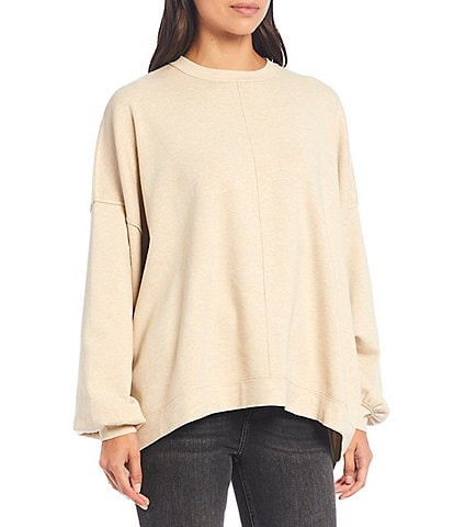 Free People Uptown Slouchy Drop Shoulder Full Sleeve Pullover Sweater